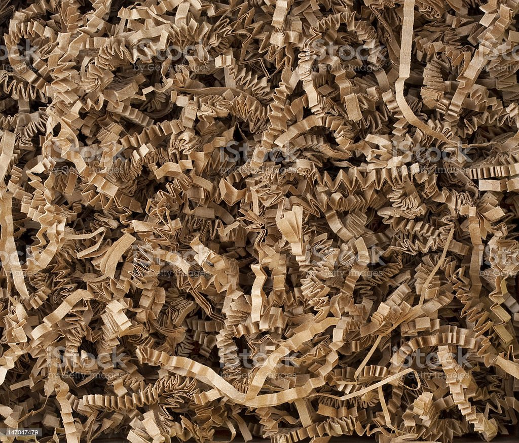 shredded brown paper background royalty-free stock photo