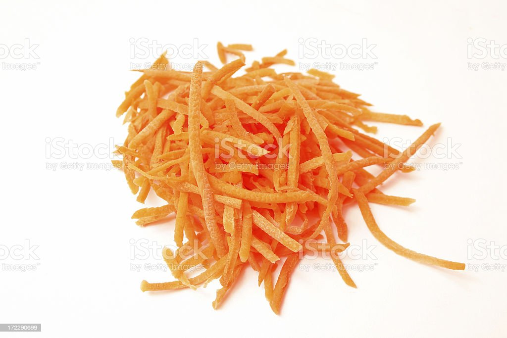 shredded carrots stock photo