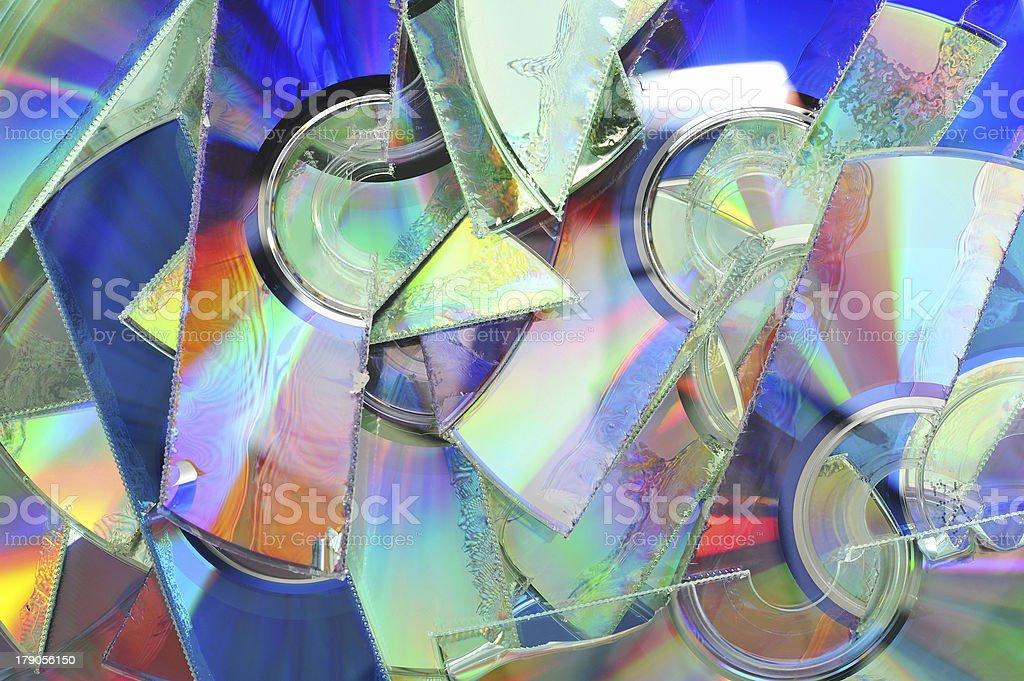 shredded CDs stock photo