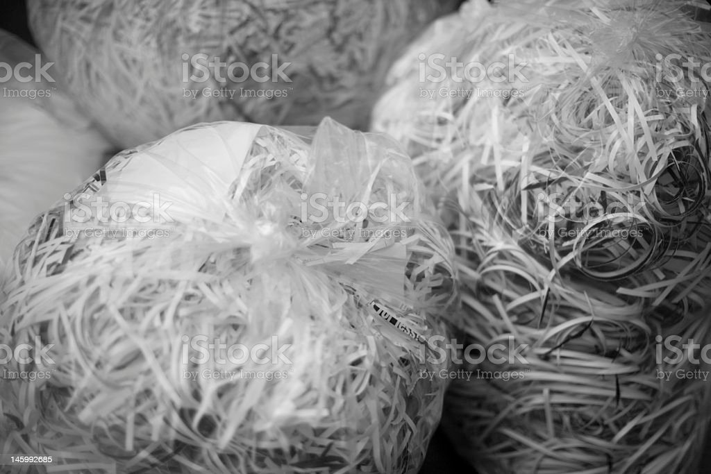 Shredded Documents stock photo