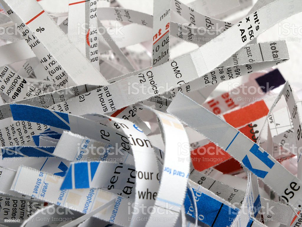 Shredded Documents royalty-free stock photo