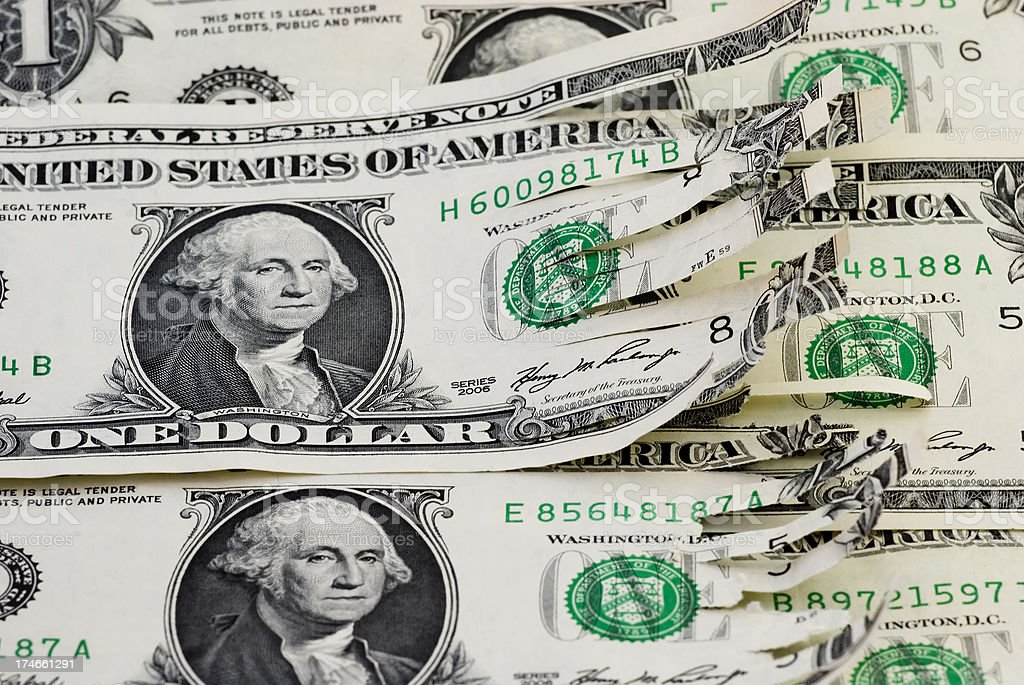 Shredded economy confidence - II royalty-free stock photo