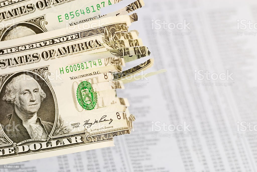 Shredded economy confidence - V royalty-free stock photo