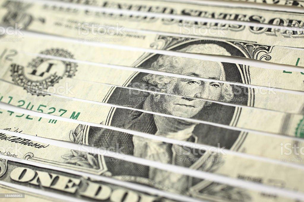 Shredded Money stock photo