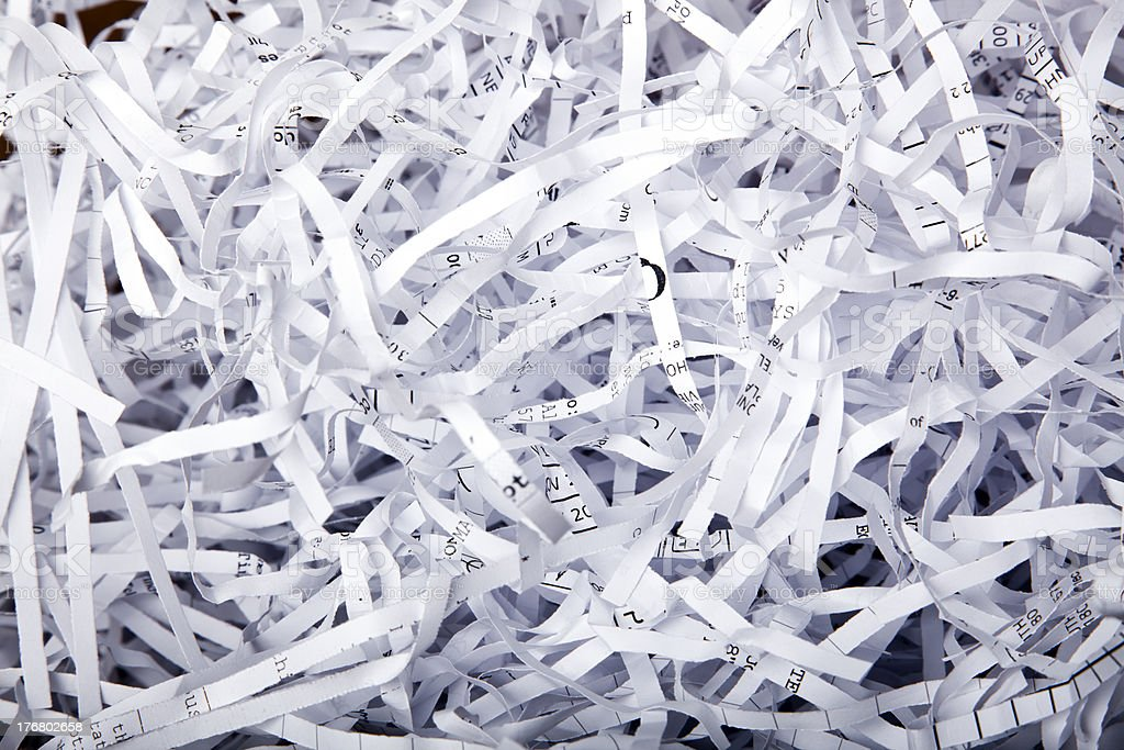 Shredded Papaer Background stock photo