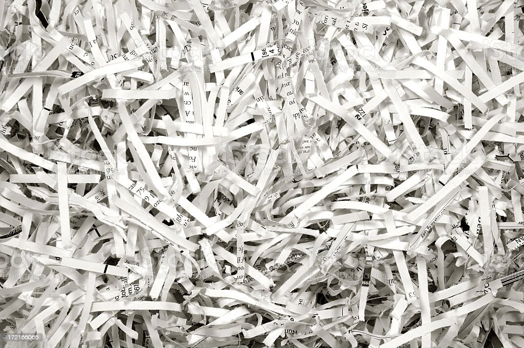 Shredded paper background stock photo