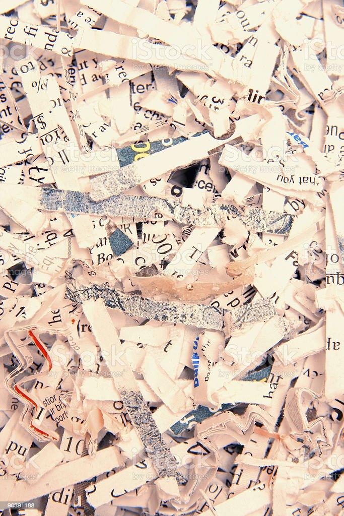 Shredded paper background royalty-free stock photo
