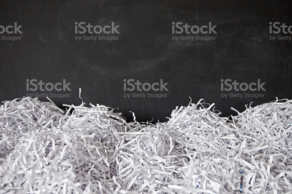 Shredded Paper Landscape stock photo