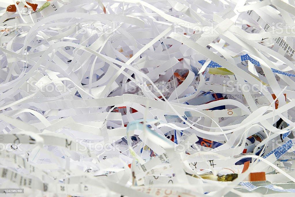 Zerkleinertes Papier Lizenzfreies stock-foto