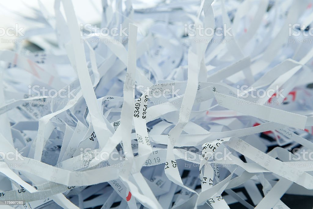 Shredded Paper royalty-free stock photo