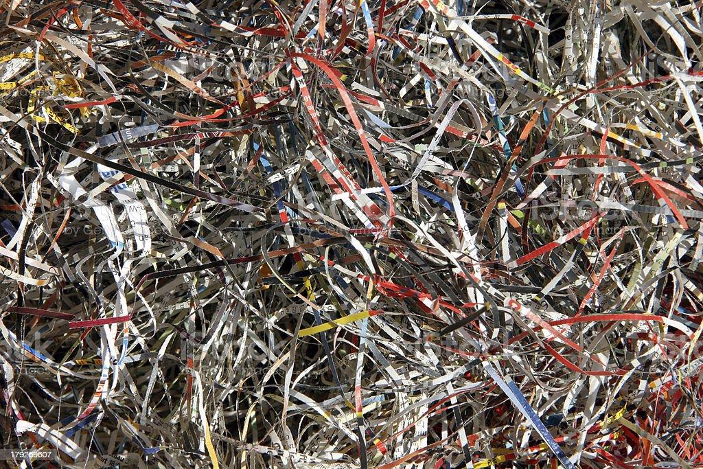 shredded paper royalty-free stock photo
