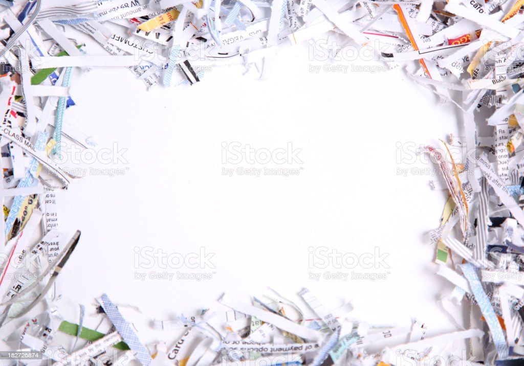 shredded paper stock photo