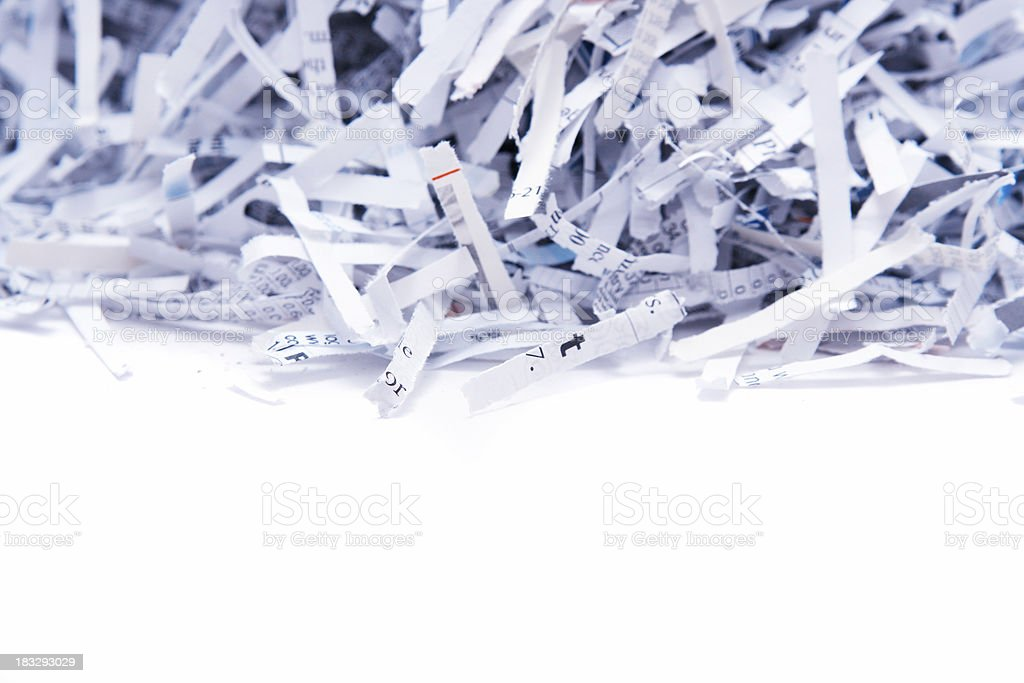 Shredded paper with copyspace royalty-free stock photo