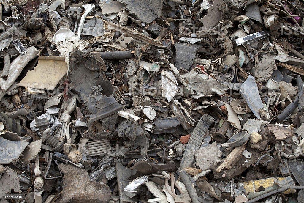 Shredded plastic royalty-free stock photo