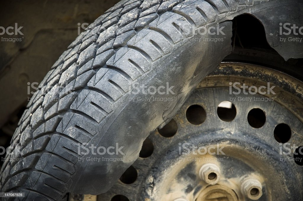 Shredded Tire stock photo