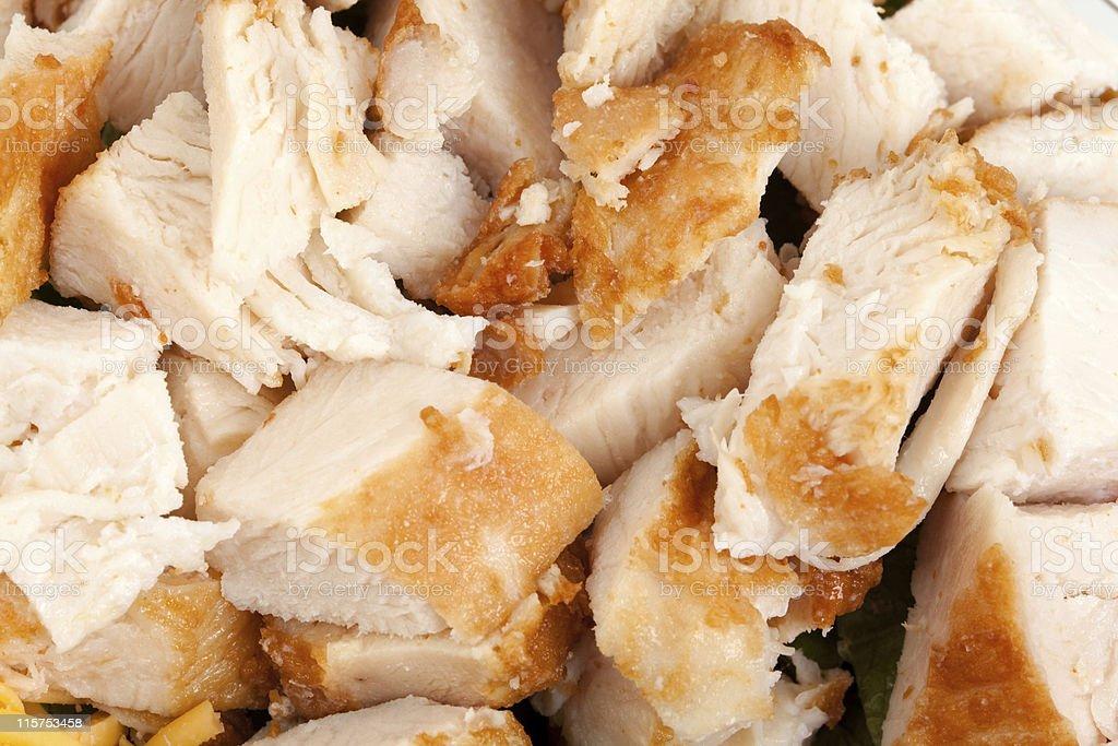 Shredded Turkey meat stock photo