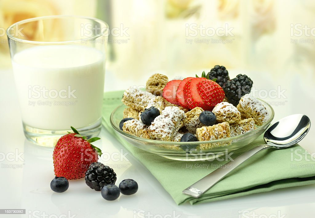 Shredded Wheat Cereal royalty-free stock photo