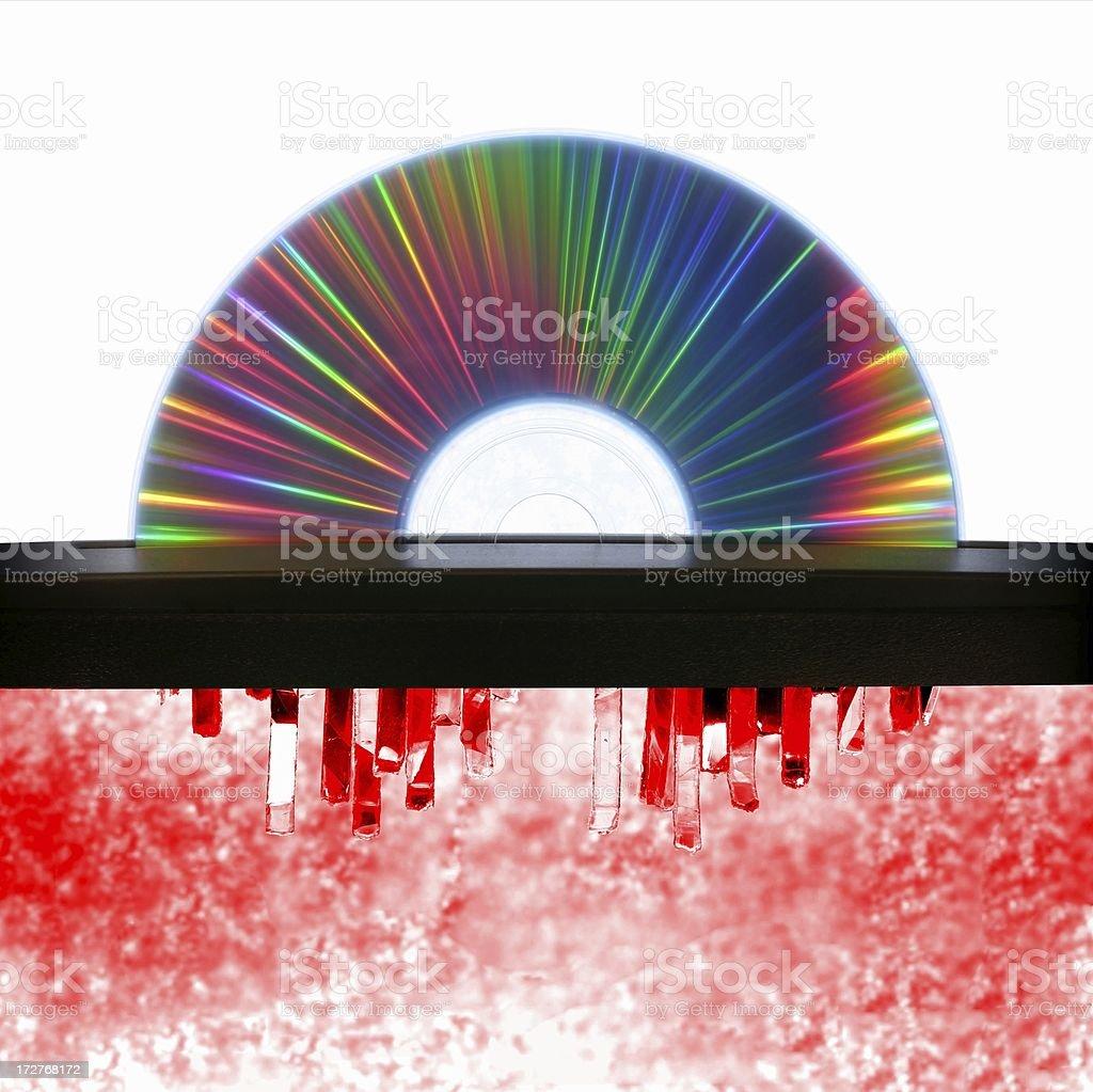 CD Shredder - Heaven and Hell stock photo