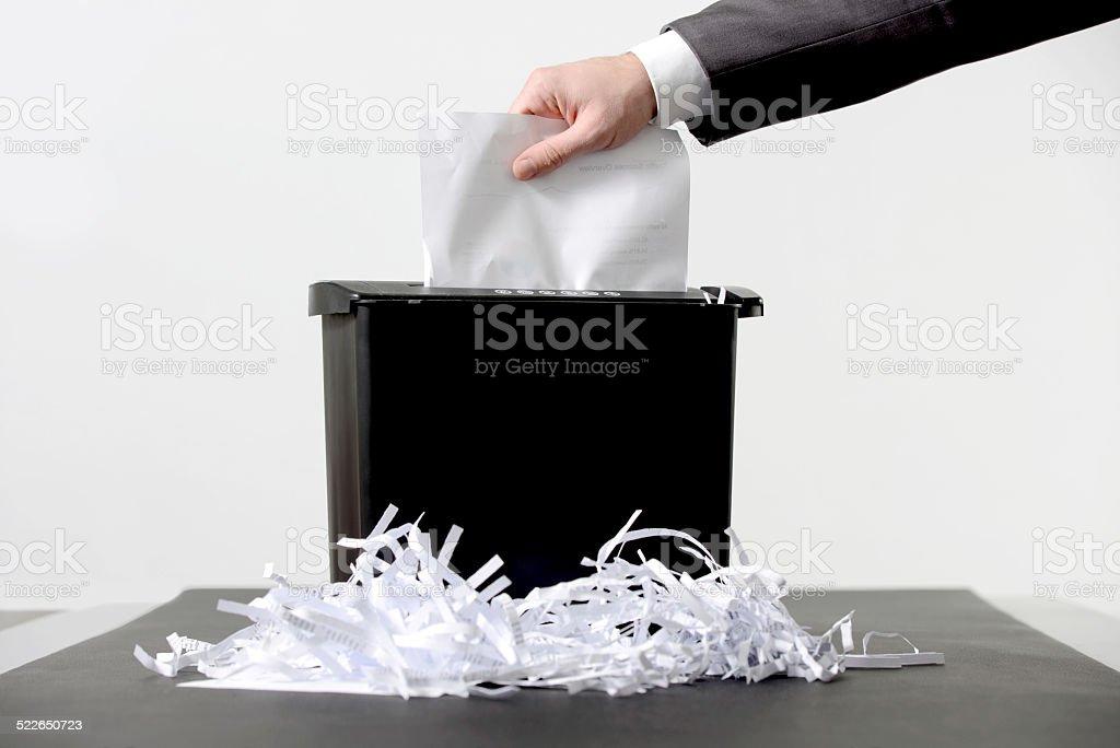 Shredding a paper stock photo