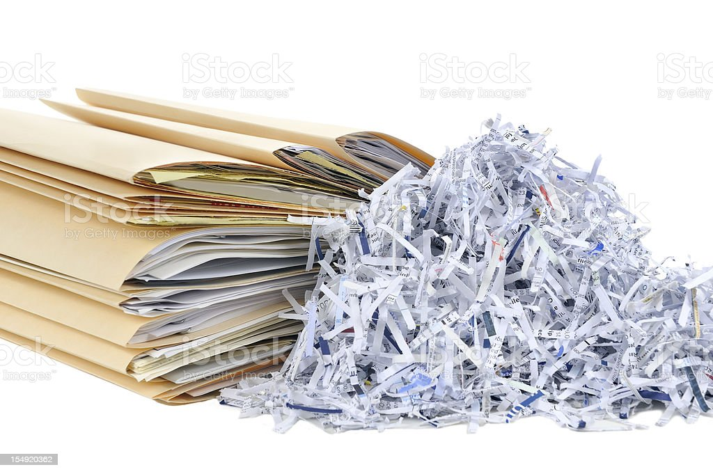 Shredding Documents stock photo