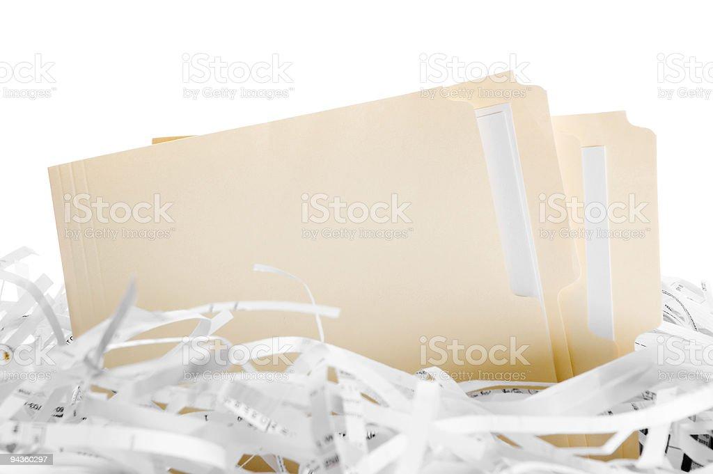 Shredding files stock photo