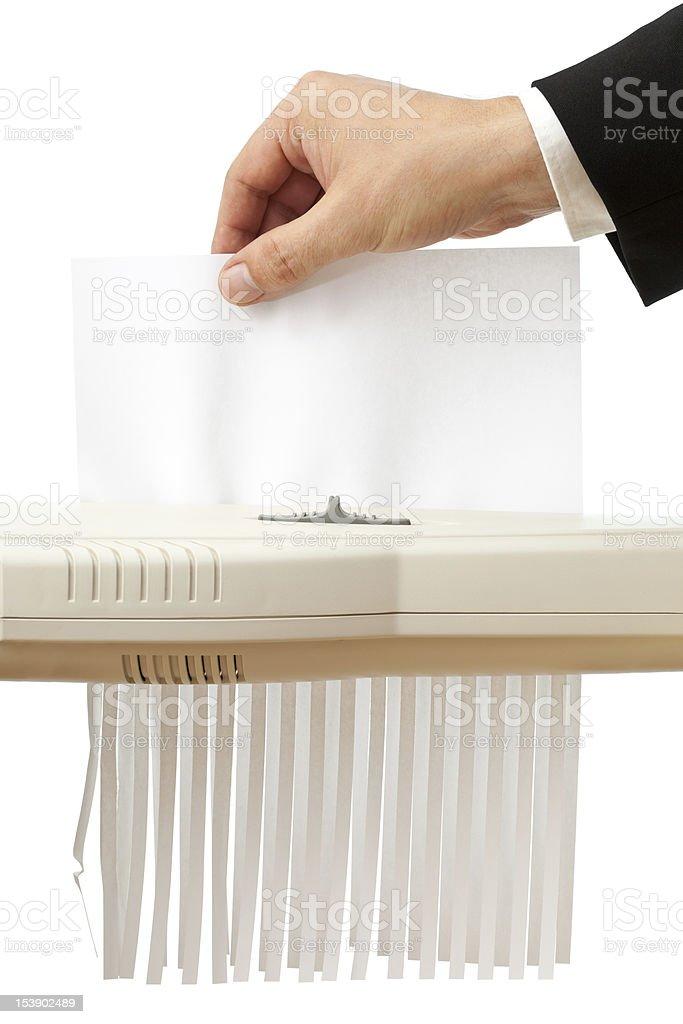 Shredding paper stock photo