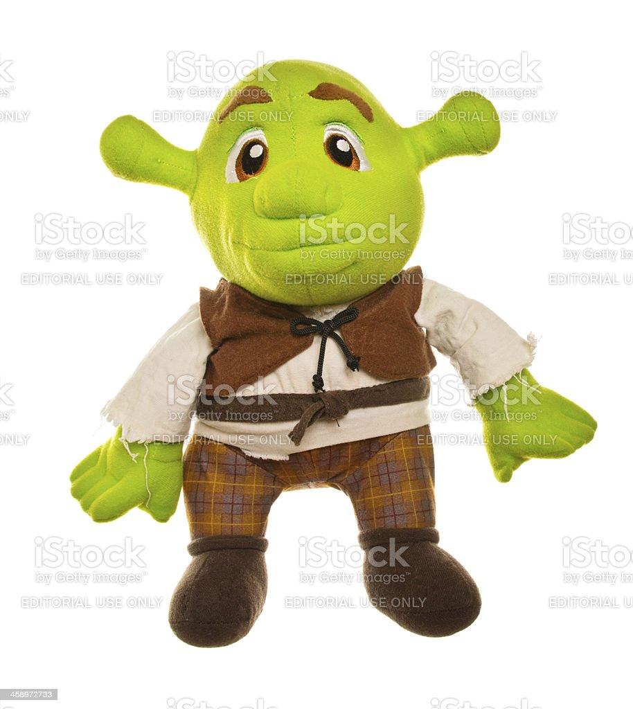 Shrek Stuffed Toy stock photo