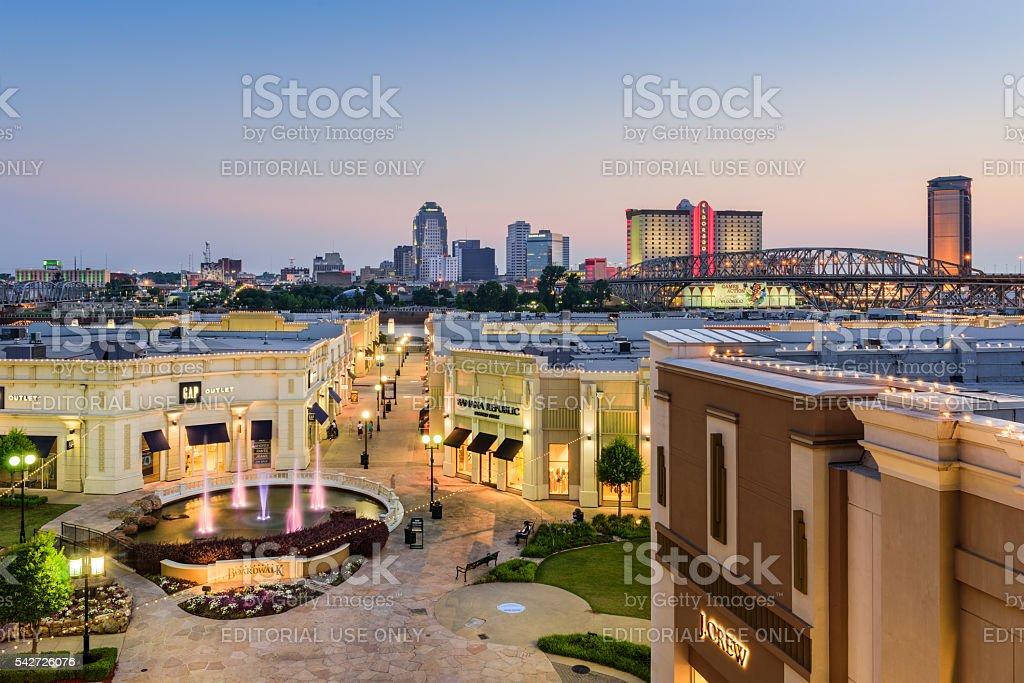 Shreveport Lousiana Cityscape stock photo