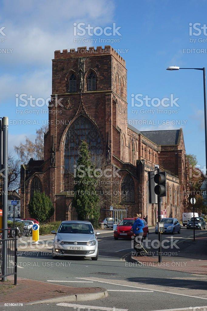 Shrewsbury Abbey stock photo