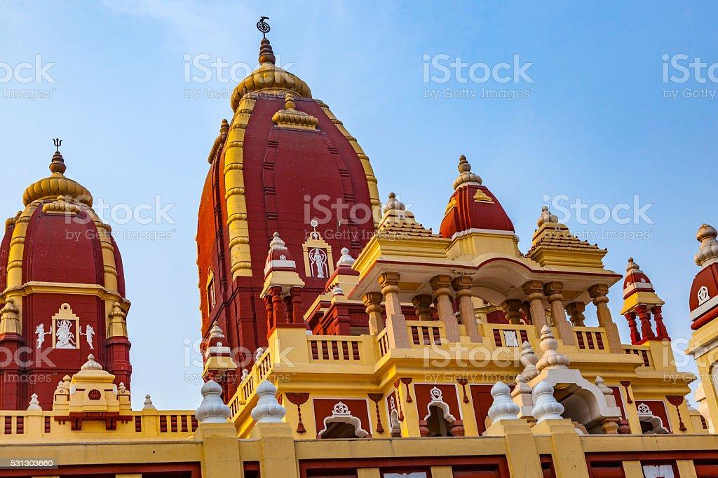 Shri Digambar Jain Lal Mandir Temple in Delhi stock photo