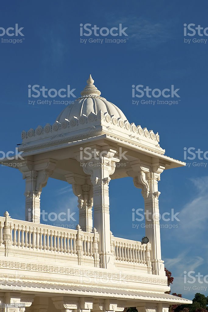 BAPS Shri Swaminarayan Mandir. Atlanta stock photo