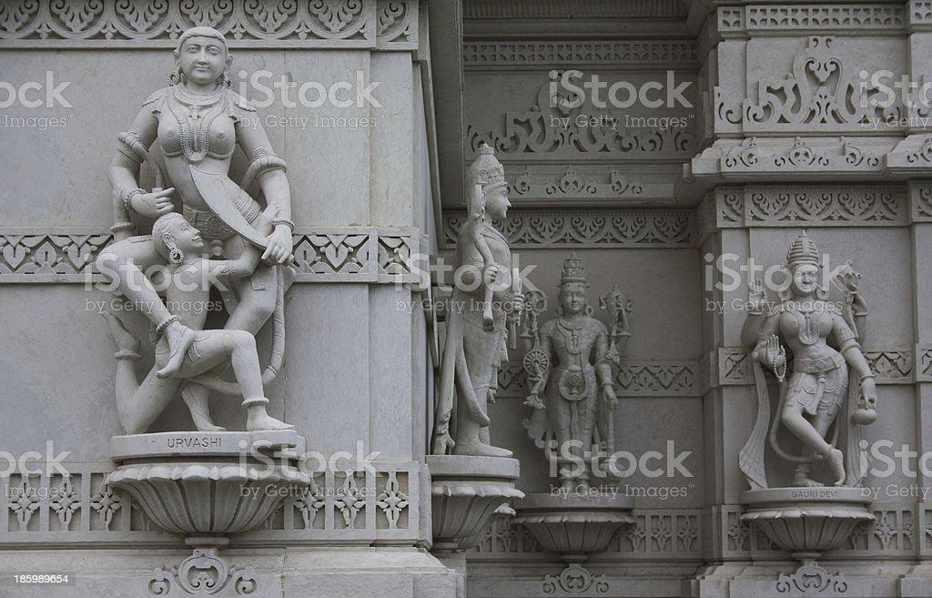 BAPS Shri Swaminarayan Mandir, London royalty-free stock photo