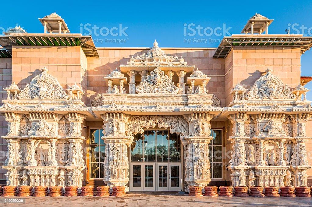 Shri Swaminarayan Mandir stock photo