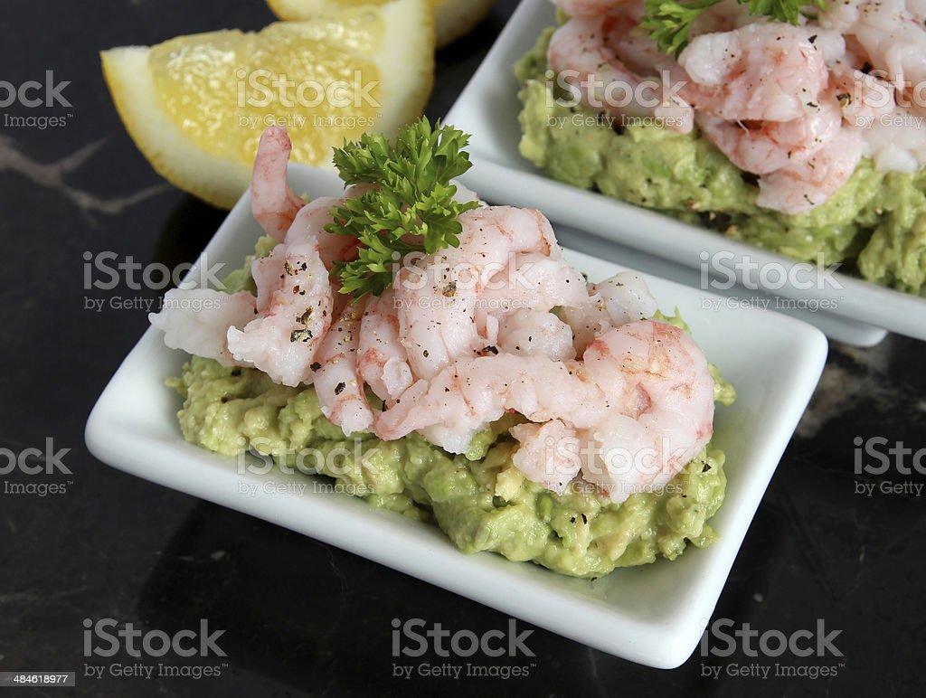 Shrimp and avocado royalty-free stock photo