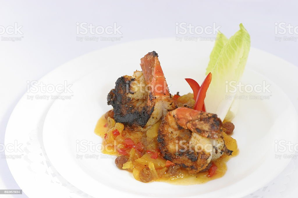 Shrimp and chutney royalty-free stock photo