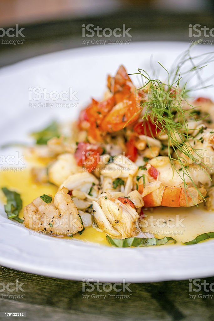 shrimp and crab salad royalty-free stock photo