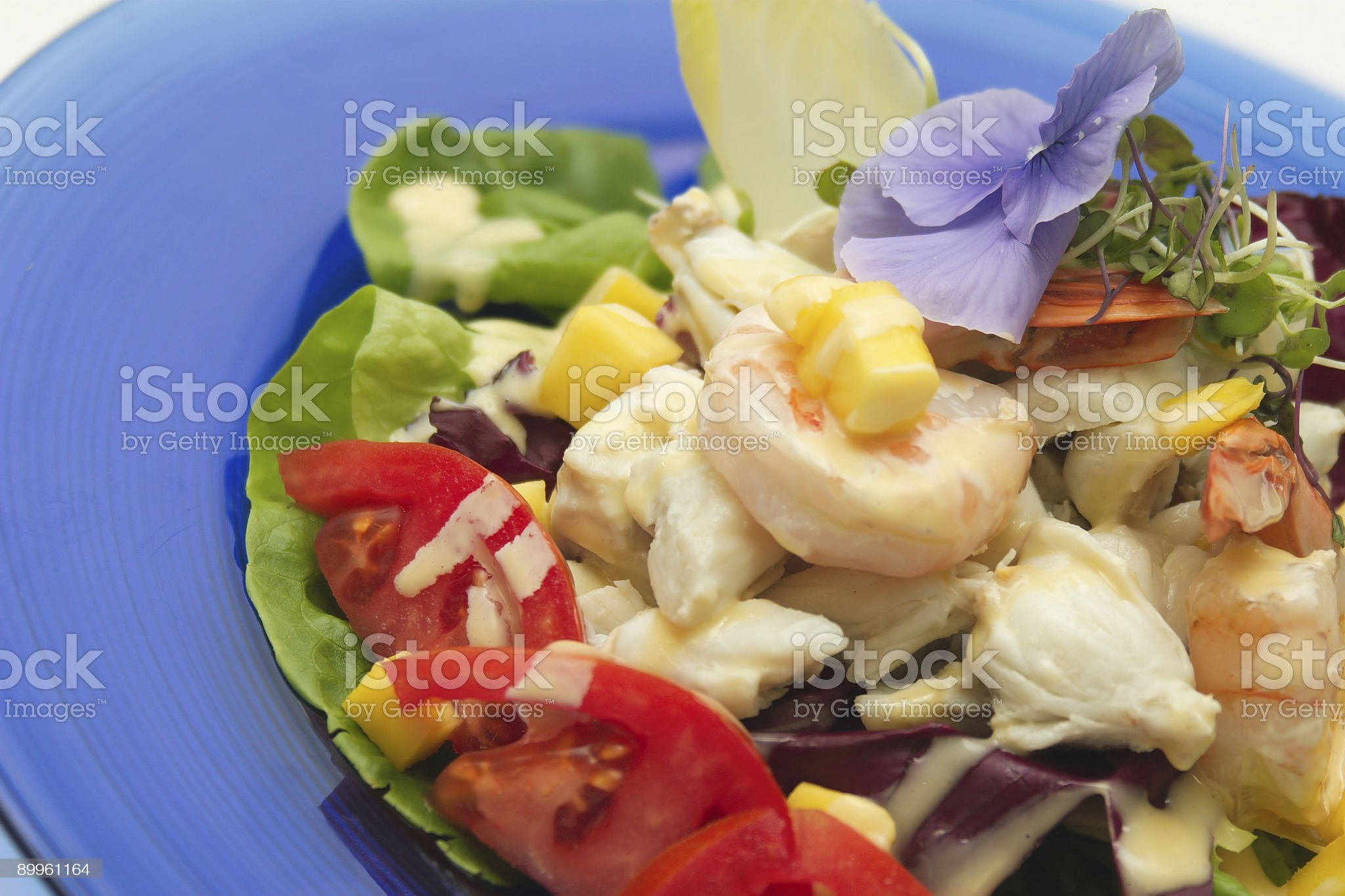 Shrimp and Crab Salad-Details royalty-free stock photo
