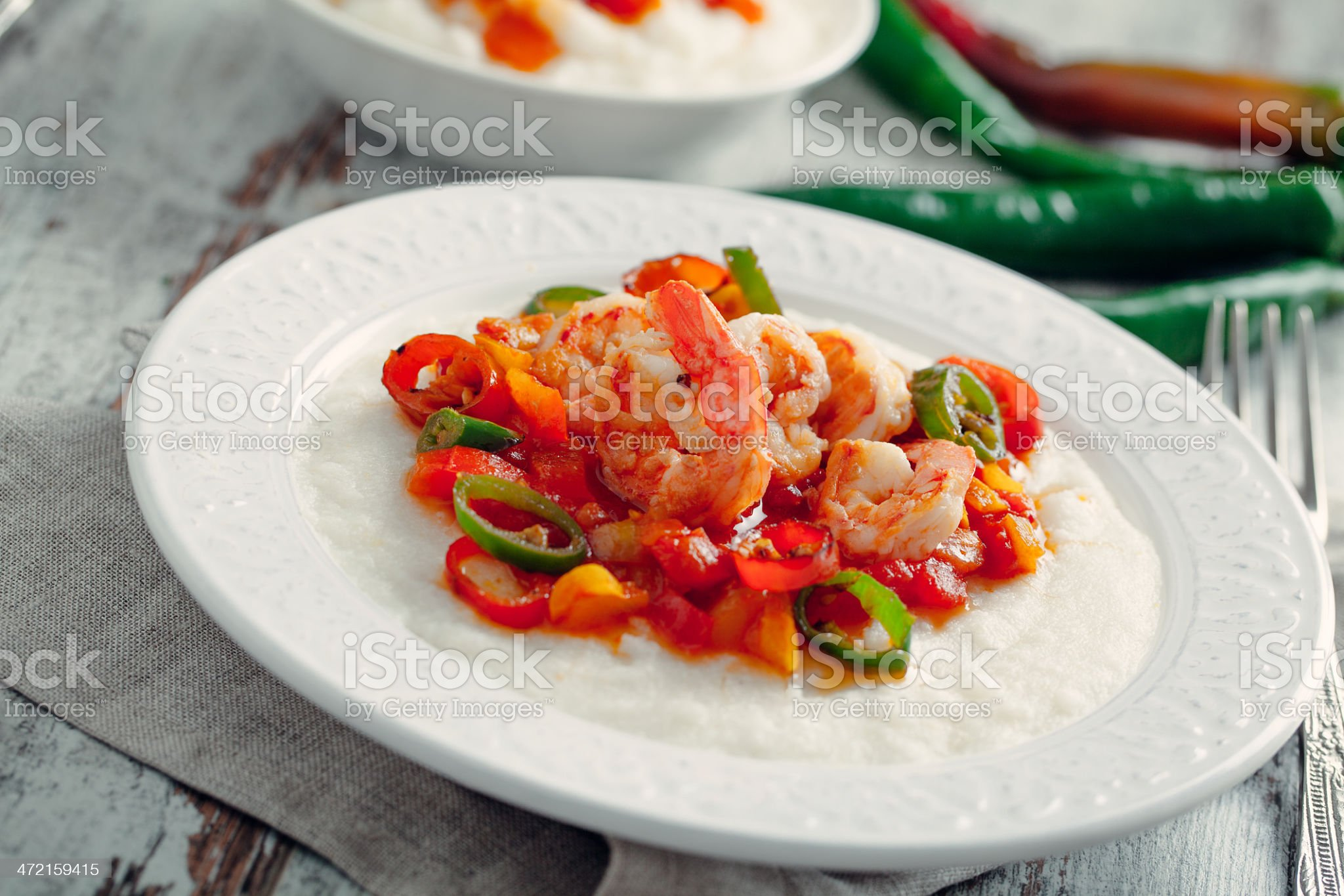 Shrimp and Grits royalty-free stock photo