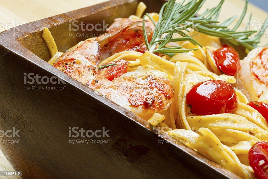 Shrimp and Pasta royalty-free stock photo