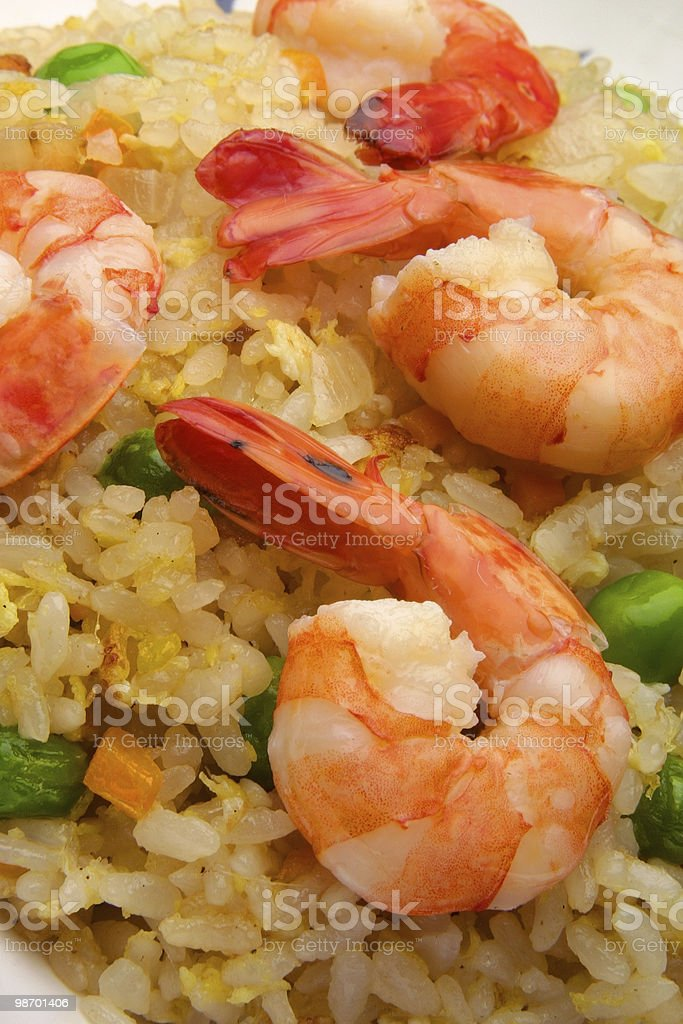 shrimp and rice meal royalty-free stock photo