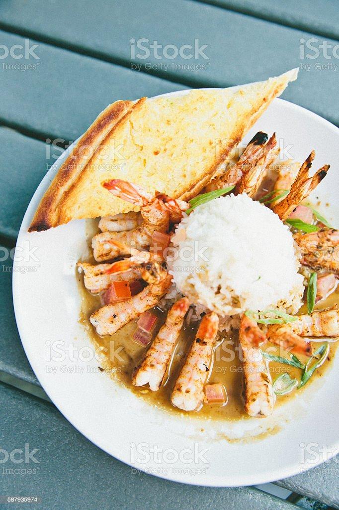 Shrimp and Rice stock photo