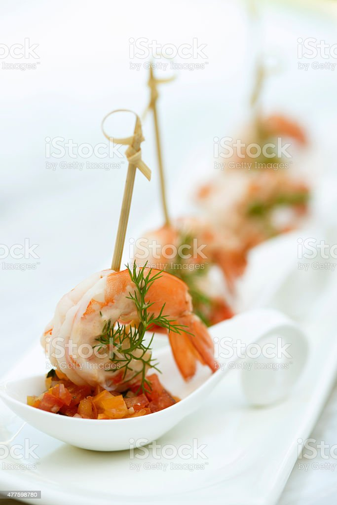 Shrimp Appertizer stock photo