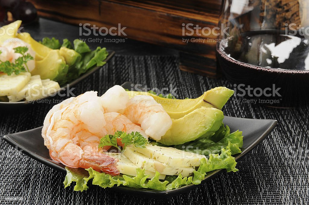 Shrimp appetizers royalty-free stock photo