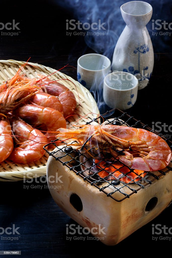Shrimp Barbecue stock photo