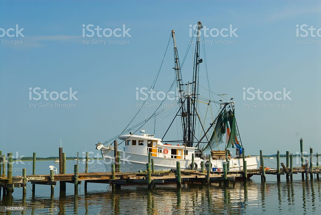 Shrimp Boat Morning stock photo