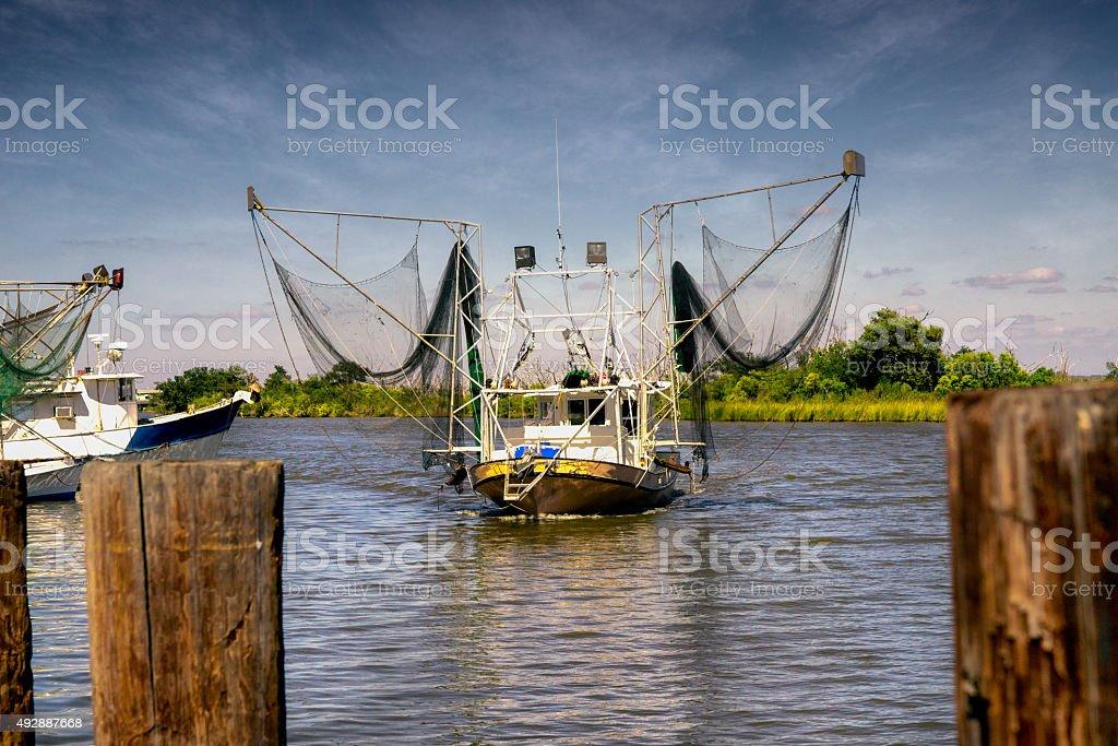 Shrimp Boat stock photo