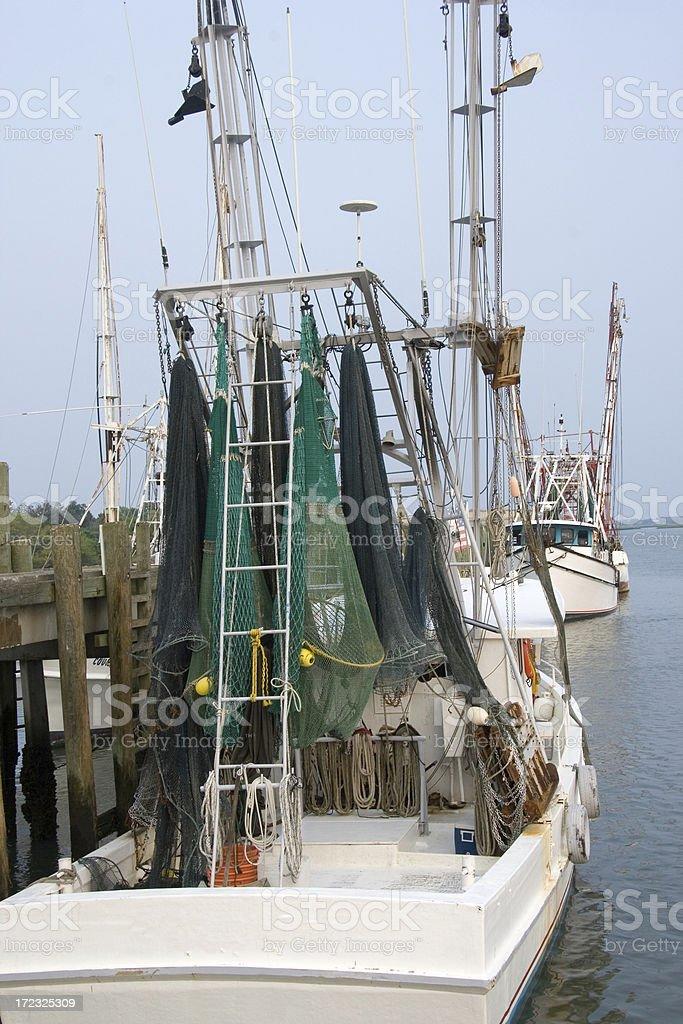 Shrimp Boats at Rest stock photo