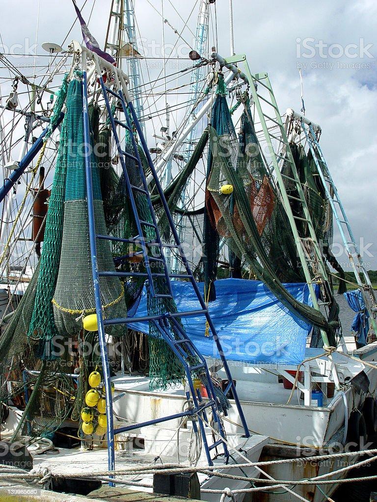 Shrimp boats stock photo