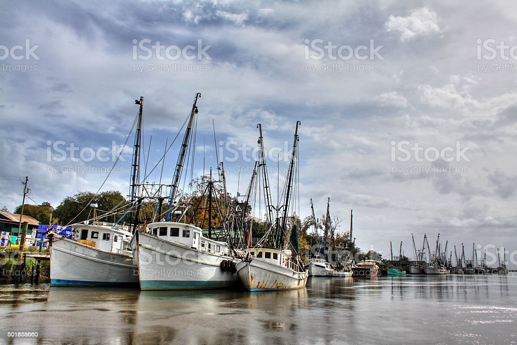Shrimp Boats stock photo