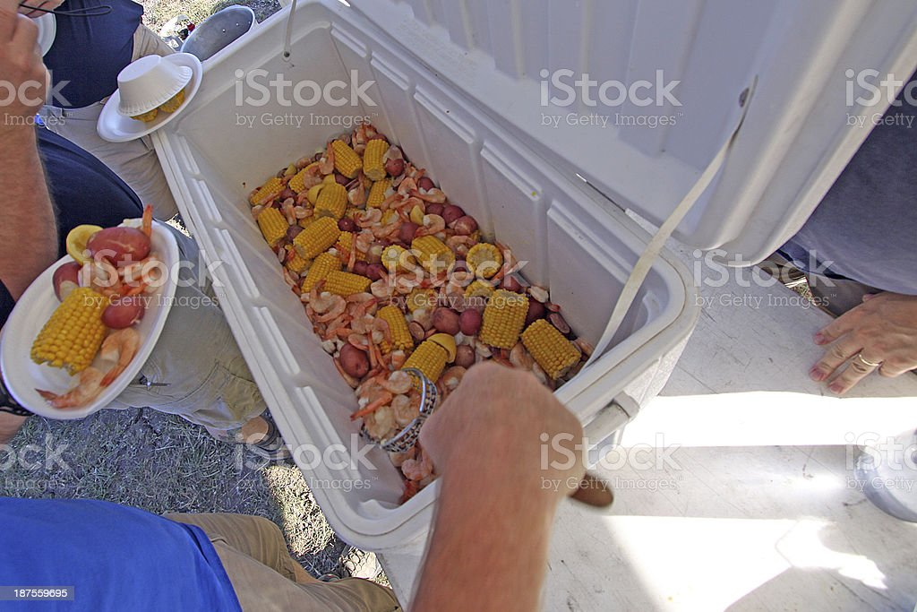 Shrimp Boil royalty-free stock photo